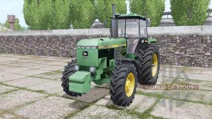 John Deere 4650 1988 twin wheels для Farming Simulator 2017