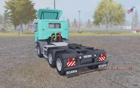 Scania P420 bright turquoise v2.2 для Farming Simulator 2013