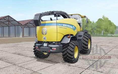 New Holland FR850 double front wheels для Farming Simulator 2017