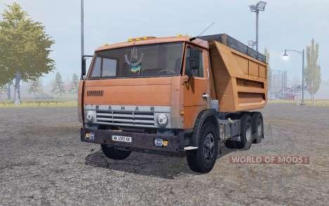 КамАЗ 55111 1989 с прицепом для Farming Simulator 2013