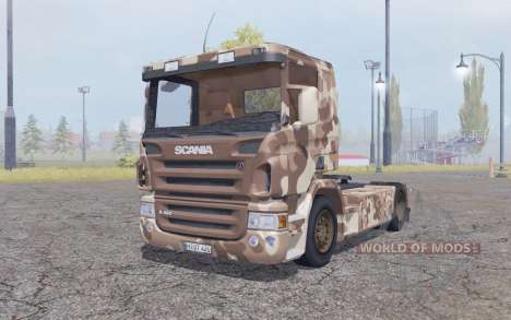 Scania R420 desert camo для Farming Simulator 2013
