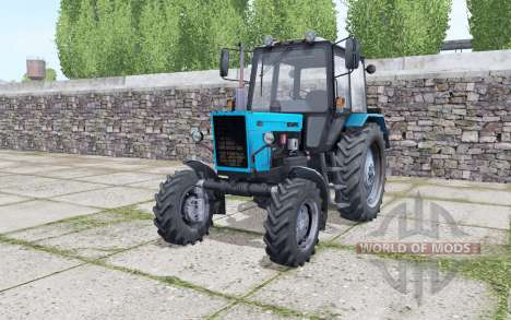 МТЗ 82.1 Беларус ярко-голубой для Farming Simulator 2017