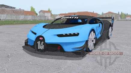 Bugatti Chiron Vision Gran Turismo 2015 для Farming Simulator 2017