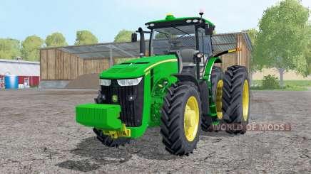 John Deere 8370R double wheels для Farming Simulator 2015