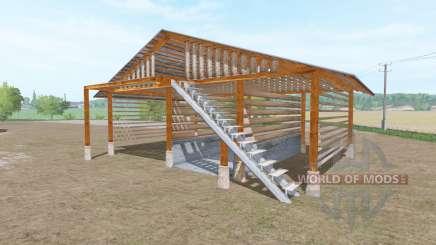 Wooden shed для Farming Simulator 2017