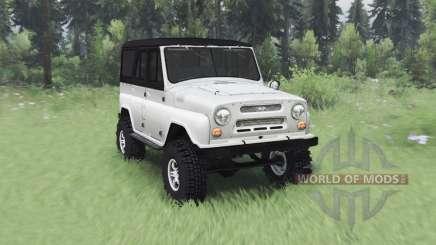 УАЗ 469 белый v1.1 для Spin Tires
