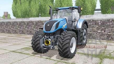 New Holland T7.290 Heavy Duty bright blue для Farming Simulator 2017