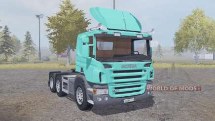 Scania P420 bright turquoise v2.2 для Farming Simulator 2013