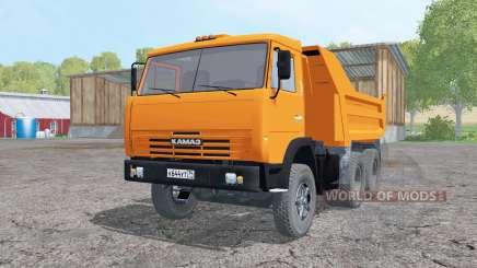 КамАЗ 55111 2002 ярко-оранжевый для Farming Simulator 2015