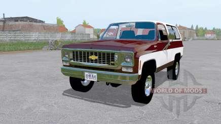Chevrolet K5 Blazer 1973 dark desaturated pink для Farming Simulator 2017