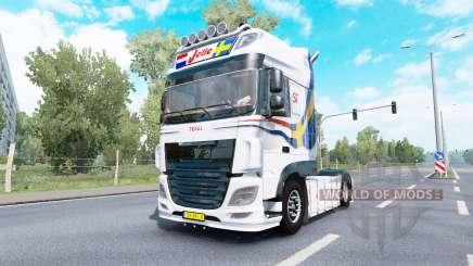 DAF XF Super Space Cab Jelle Schouwstra v1.1 для Euro Truck Simulator 2