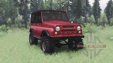 УАЗ 469 красный v1.1 для Spin Tires