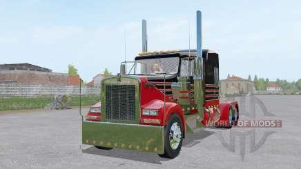 Kenworth W900L 6x6 для Farming Simulator 2017