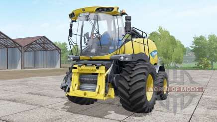 New Holland FR850 double front wheels для Farming Simulator 2017
