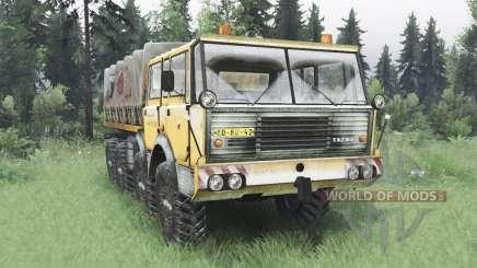 Tatra T813 TP 8x8 1967 зимний v1.5 для Spin Tires