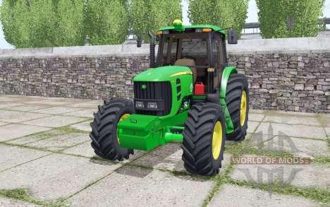 John Deere 6180J double wheels для Farming Simulator 2017