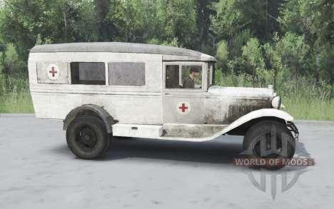 ГАЗ 55 1938 Санитарный v1.5 для Spin Tires