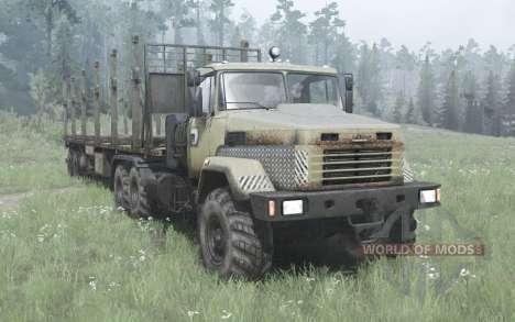 КрАЗ 6322 тёмно-серо-жёлтый v2.0 для Spintires MudRunner