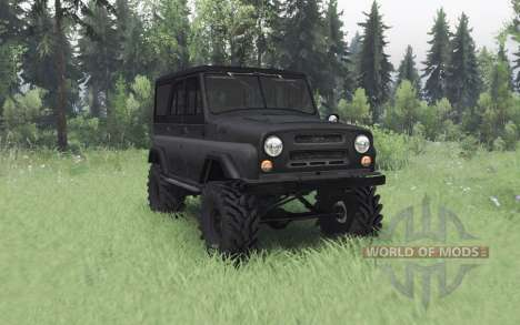 УАЗ 469 тёмно-серый v1.1 для Spin Tires