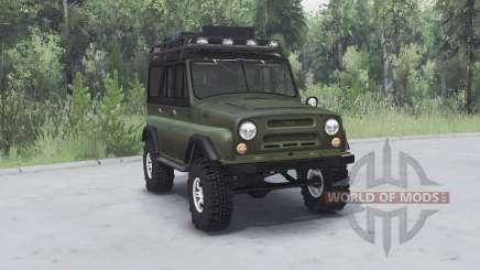 УАЗ 469 хаки v1.1 для Spin Tires