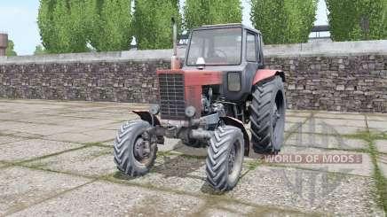 МТЗ 82 Беларус старый дизель для Farming Simulator 2017