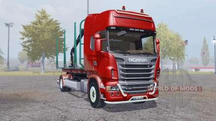 Scania R730 V8 Topline 4x4 Timber Truck для Farming Simulator 2013
