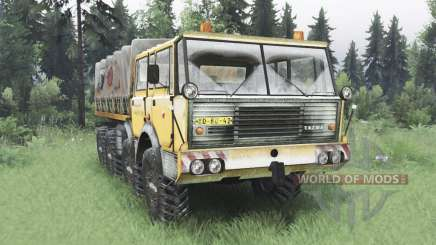 Tatra T813 TP 8x8 1967 зимний v1.6 для Spin Tires