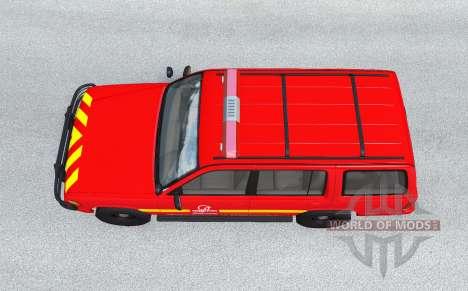Gavril Roamer French Pompiers v1.0.2 для BeamNG Drive