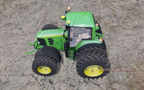 John Deere 7530 Premium double wheels для Farming Simulator 2015