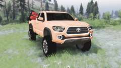 Toyota Tacoma TRD Off-Road Access Cab 2016 для Spin Tires