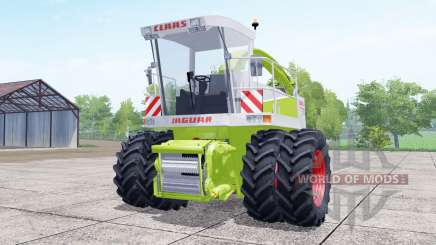 Claas Jaguar 880 dual front wheels для Farming Simulator 2017