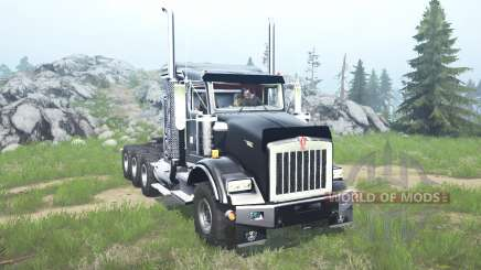 Kenworth T800 four-axle 2005 v1.1 для MudRunner