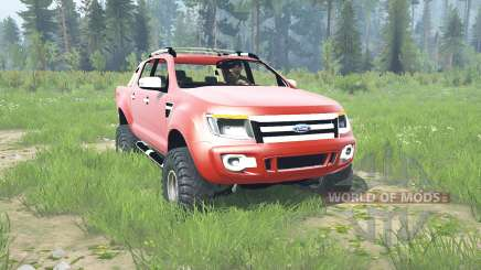 Ford Ranger Double Cab 2012 для MudRunner