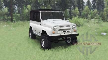 УАЗ 469 белый v1.2 для Spin Tires