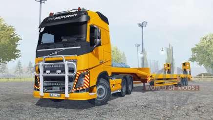 Volvo FH16 600 Globetrotter special transport для Farming Simulator 2013