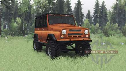 УАЗ 469 оранжевый v1.2 для Spin Tires