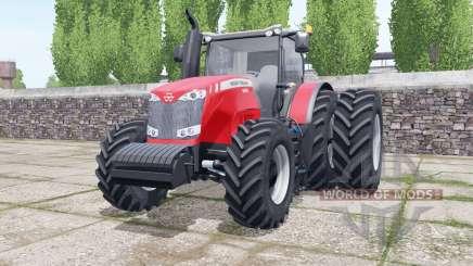 Massey Ferguson 8690 dual rear wheels для Farming Simulator 2017