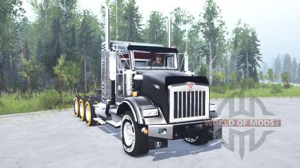 Kenworth T800 four-axle 2005 v2.0 для MudRunner