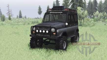 УАЗ 469 чёрный v1.2 для Spin Tires