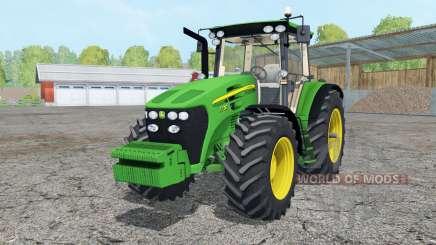 John Deere 7730 added wheels для Farming Simulator 2015