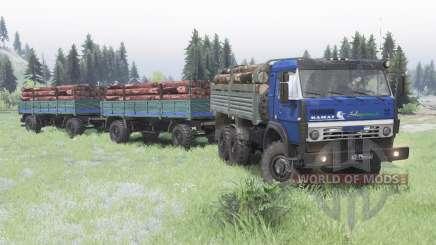 КамАЗ 5350 тёмно-синий для Spin Tires